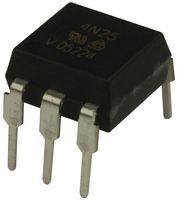 4N25 Optocoupler; THT; Channels:1; Out: transistor; Uinsul:5.3kV; DIP6